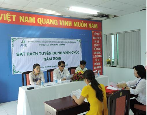 Trung tâm Khai thác Hạ tầng tổ chức xét tuyển Viên chức  năm 2016