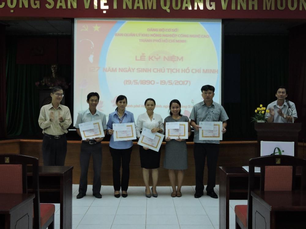 Đảng bộ Khu Nông nghiệp Công nghệ cao Thành phố Hồ Chí Minh kỷ niệm 127 năm ngày sinh Chủ tịch Hồ Chí Minh  (19/5/1890 – 19/5/2017)