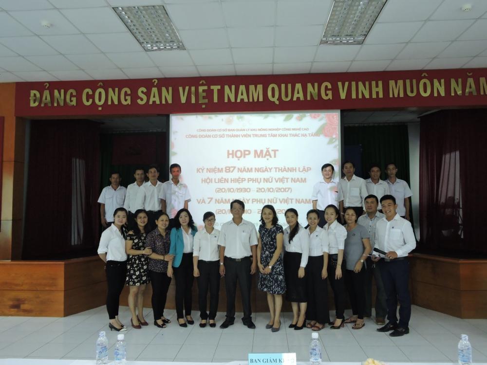 Họp mặt kỷ niệm 87 năm Ngày Thành lập Hội Liên hiệp Phụ nữ Việt Nam ( 20/10/1930 – 20/10/2017) và 7 năm Ngày Phụ nữ Việt Nam (20/10/2010 – 20/10/2017)