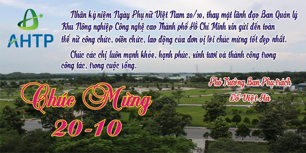 Chúc mừng ngày Phụ Nữ Việt Nam 20/10