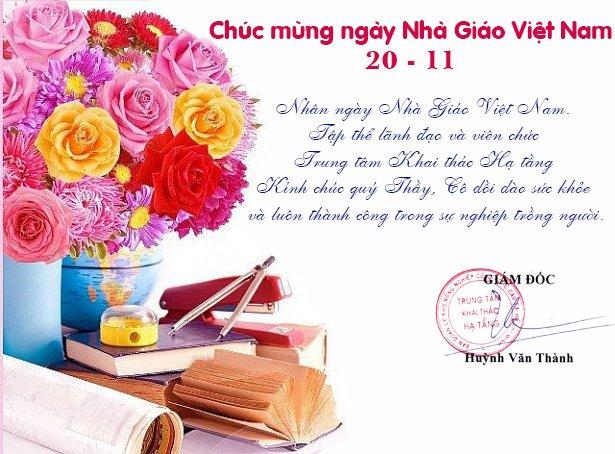 Trung tâm Khai thác Hạ tầng kính mừng Ngày Nhà giáo Việt Nam 20-11
